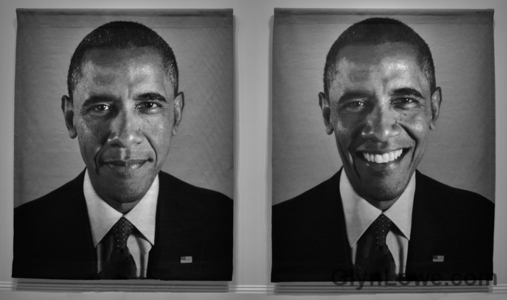 Obama photographié par Chuck Close en 2012