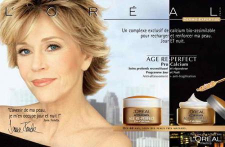 Pub Age Perfect Pro-Calcium avec Jane Fonda