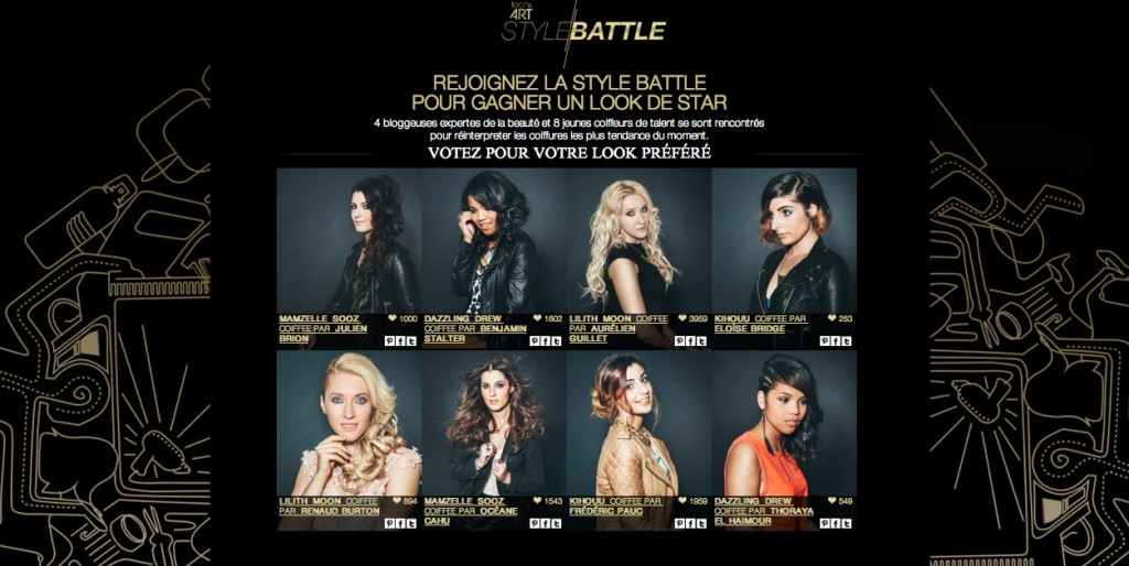 La Style Battle de L'Oreal sur le web digital coiffants