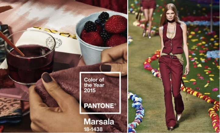 Color of the year 2015 Pantone choisit le rouge Marsala