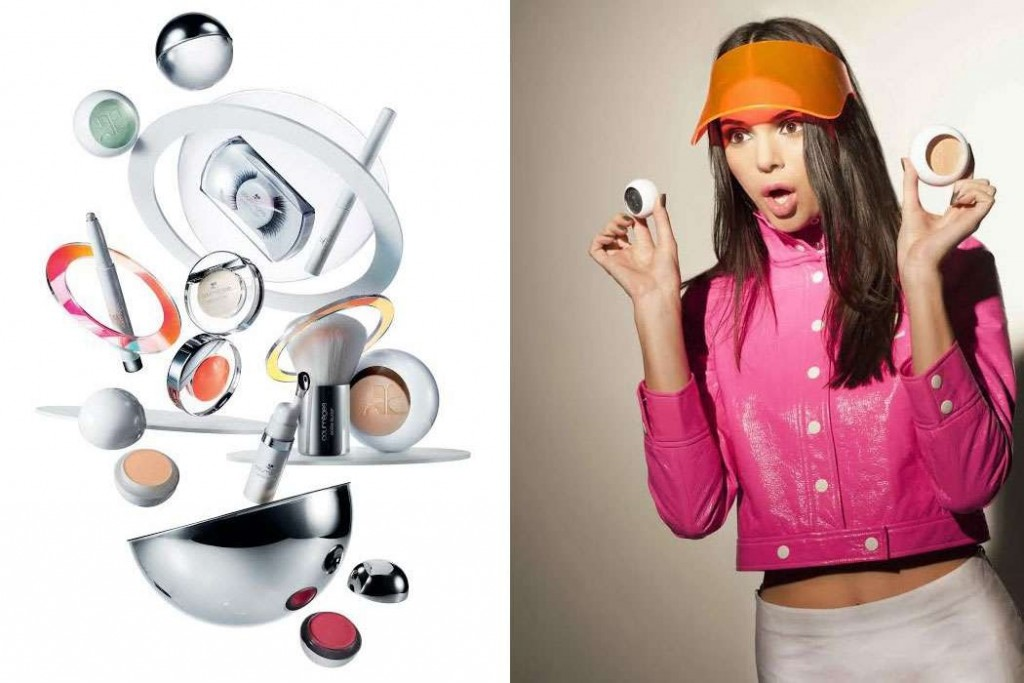 Kendall-Jenner-egerie-make-up-Lauder-×-Courrèges-