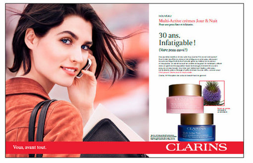 Clarins renouvelle sa signature, campagne institutionnelle