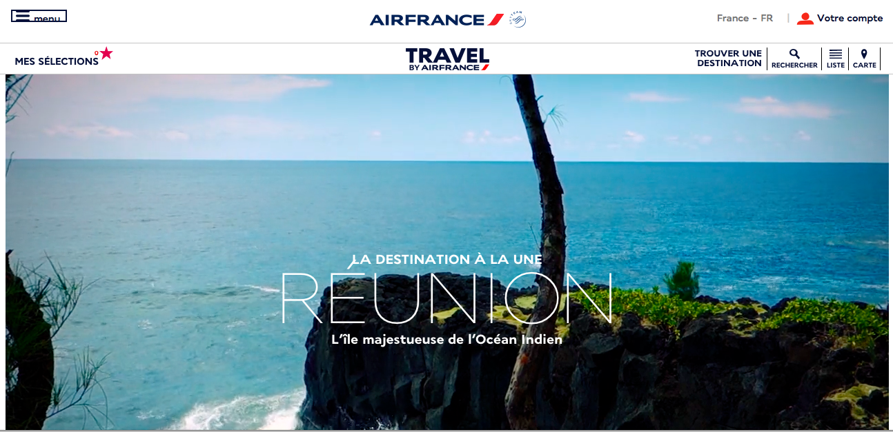 Guide de voyage 2.0 : Travel by Air France, l'e-commerce intelligent !
