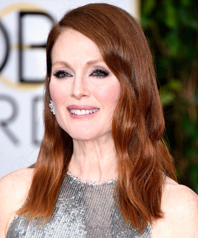 BEVERLY HILLS, CA - JANUARY 11: Actress Julianne Moore attends the 72nd Annual Golden Globe Awards at The Beverly Hilton Hotel on January 11, 2015 in Beverly Hills, California. (Photo by Frazer Harrison/Getty Images)