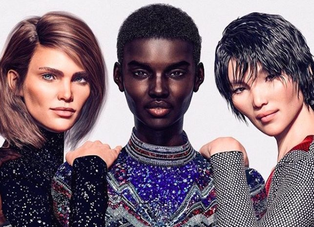 mannequins virtuels balmain