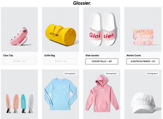 glossier wear fashion