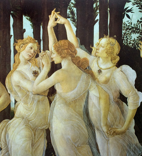 nymphes botticelli