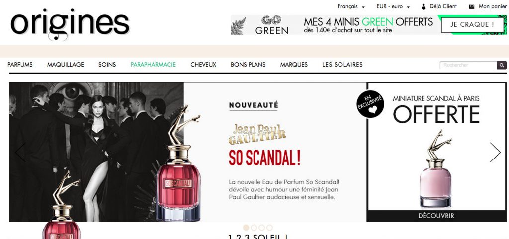 site e-commerce parfums