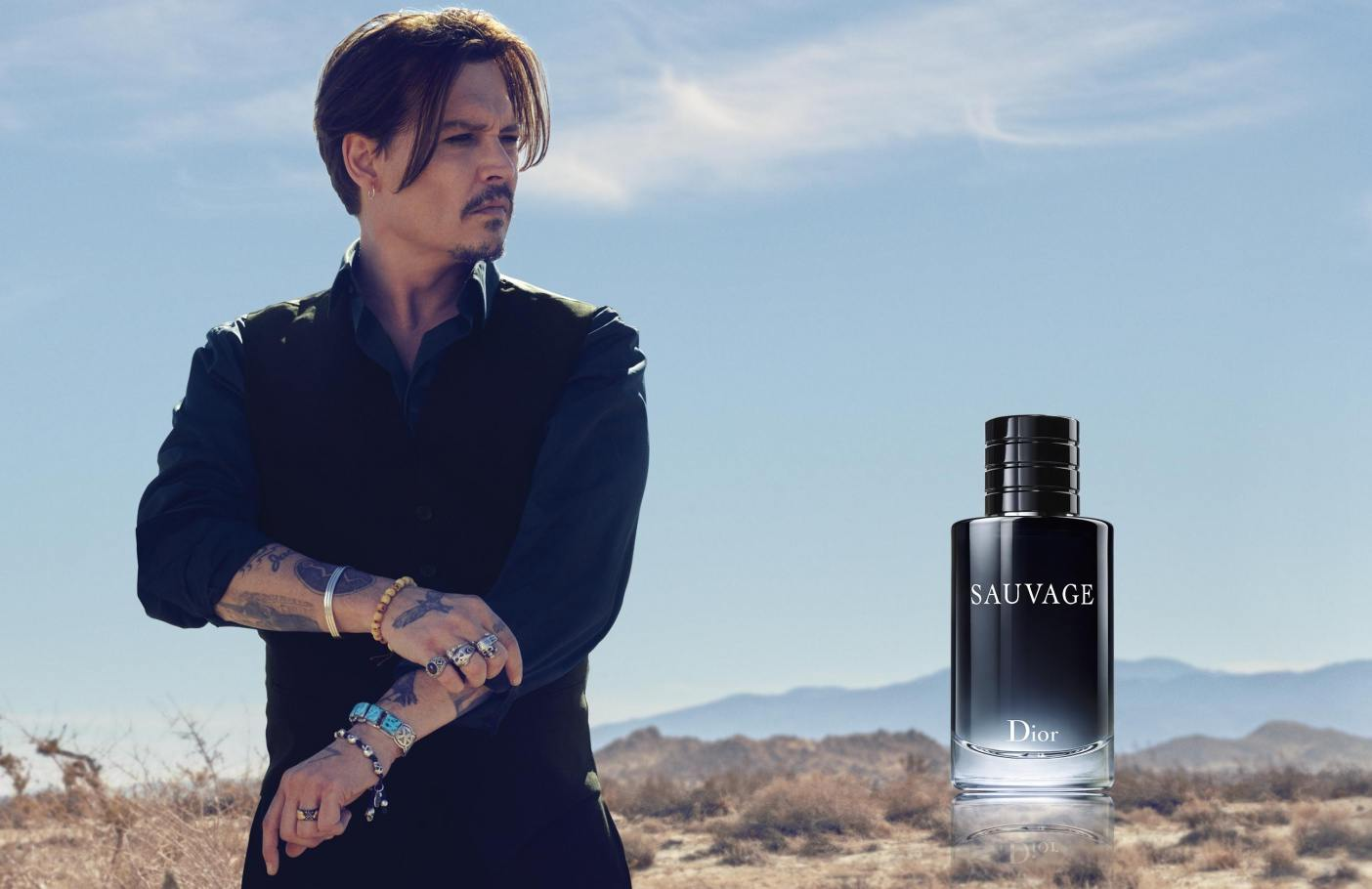 parfum dior johny depp g rie brute et noble de sauvage. Black Bedroom Furniture Sets. Home Design Ideas